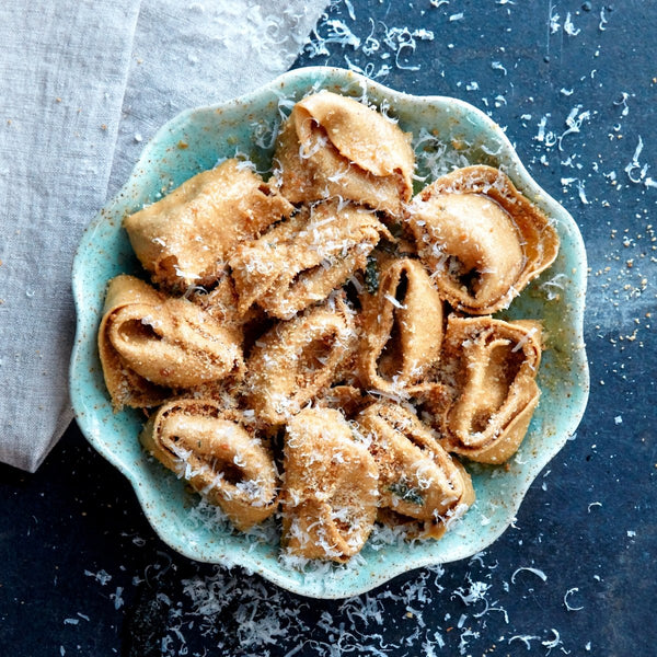 pasta evangelists - chicken tortelloni with rosemary butter