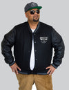 Director Of Chaos Art Leather Varsity Jacket -  - Chaotic Clothing Streetwear Sydney Australia Street Style Plus Menswear