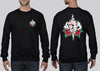Tattoo Rose Gamblr Crew Neck Jumper