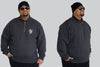 See You In Hell Ghost Half Zip Fleece Jumper King Size Up to 5XL