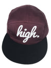 High 5 Panel - MAROON - Chaotic Clothing