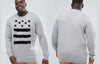 Stars & Stripes King Size Crew neck Jumper
