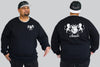 2 Lions Chaotic King Size Crew Neck Jumper 2Xl - 5XL -  - Chaotic Clothing Streetwear Sydney Australia Street Style Plus Menswear