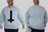Bleeding Cross King Size Crew neck Jumper -  - Chaotic Clothing Streetwear Sydney Australia Street Style Plus Menswear