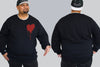 Bleeding Heart Chaotic King Size Crew Neck Jumper 2Xl - 5XL -  - Chaotic Clothing Streetwear Sydney Australia Street Style Plus Menswear
