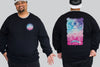 Dragon King Size Crew neck Jumper -  - Chaotic Clothing Streetwear Sydney Australia Street Style Plus Menswear