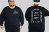 I feel Chaotic King Size Crew neck Jumper - Chaotic Clothing