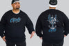 Krakken On Ships Wheel Crew Neck Jumper | Chaotic King Size Streetwear & Plus Mens
