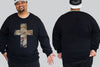 Lion Cross Chaotic King Size Crew Neck Jumper 2Xl - 5XL