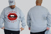 Lips King Size Crew neck Jumper - Chaotic Clothing