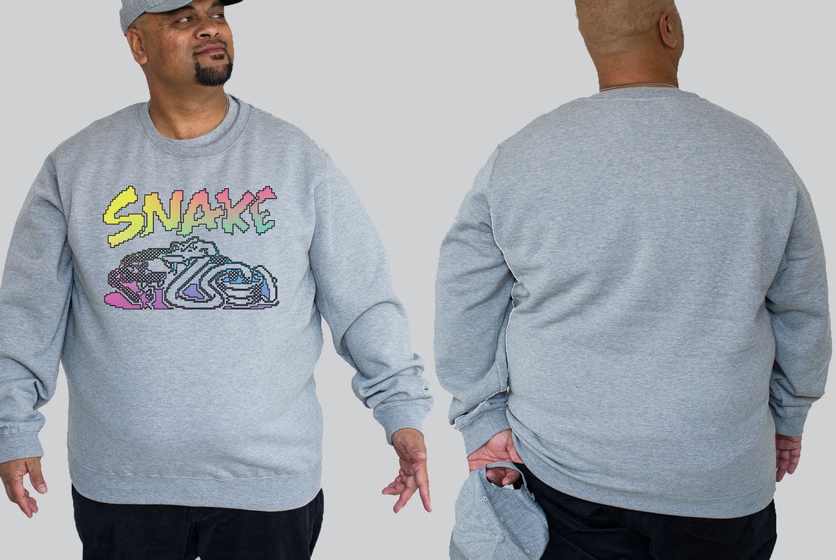 Old School Snake Chaotic King Size Crew Neck Jumper 2Xl - 5XL -  - Chaotic Clothing Streetwear Sydney Australia Street Style Plus Menswear