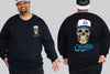Skull Cap King Chaotic King Size Crew Neck Jumper 2Xl - 5XL -  - Chaotic Clothing Streetwear Sydney Australia Street Style Plus Menswear