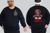 Bad Teddy King Size Crew neck Jumper -  - Chaotic Clothing Streetwear Sydney Australia Street Style Plus Menswear