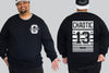 Lucky 13 Stripe Chaotic King Size Crew Neck Jumper 2Xl - 5XL