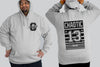 Lucky 13 Stripe I Chaotic KING Size HOODIE Streetwear I 2xl to 9xl Plus