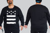 Stars & Stripes -  Chaotic Clothing KING SIZE Long Sleeve Tshirt 3XL - 5XL -  - Chaotic Clothing Streetwear Sydney Australia Street Style Plus Menswear