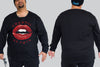 Lips - Chaotic KING Size Long Sleeve Tee - Chaotic Clothing