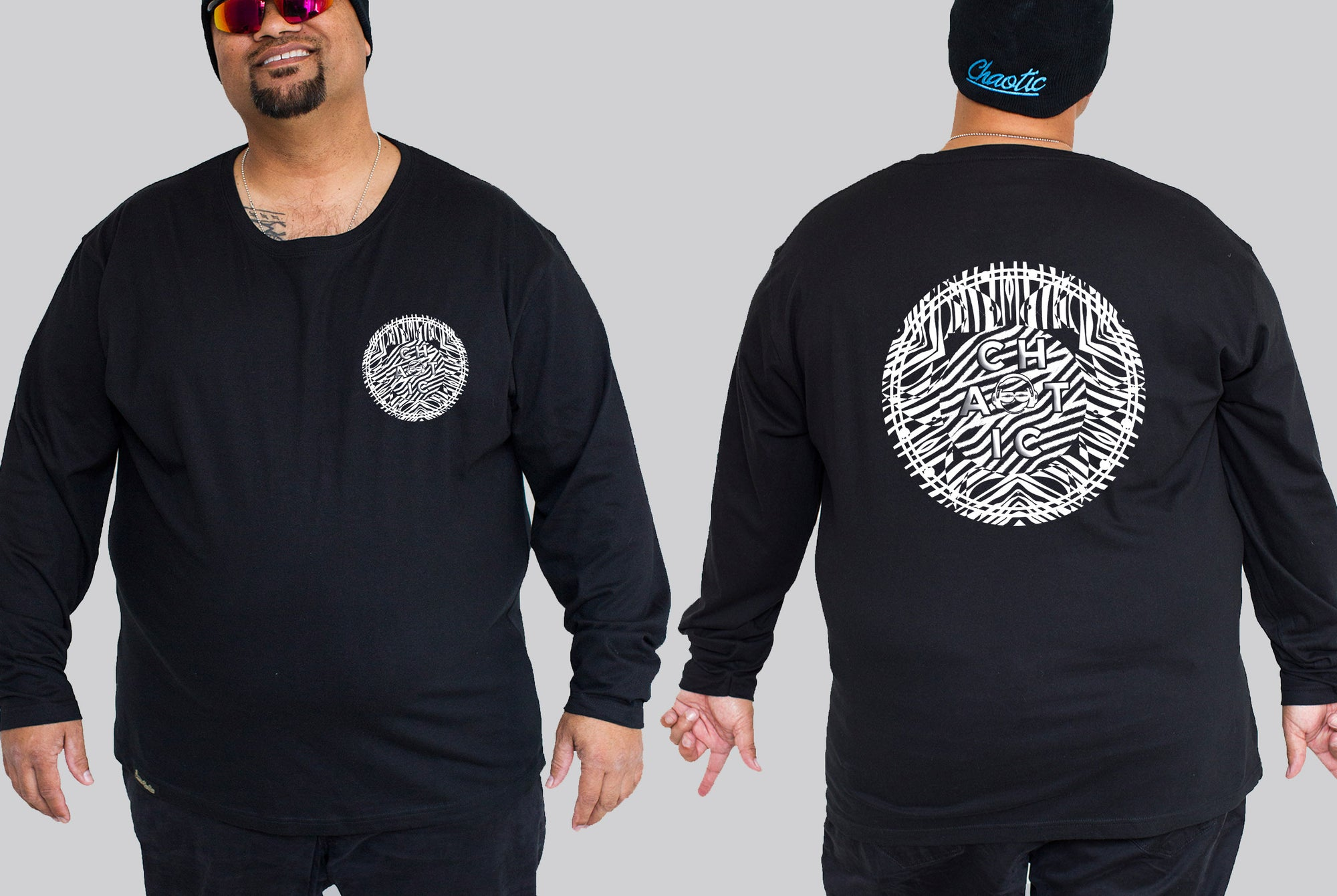 Zebra Chaotic King Size Long Sleeve Tee - Chaotic Clothing f4b249bf0