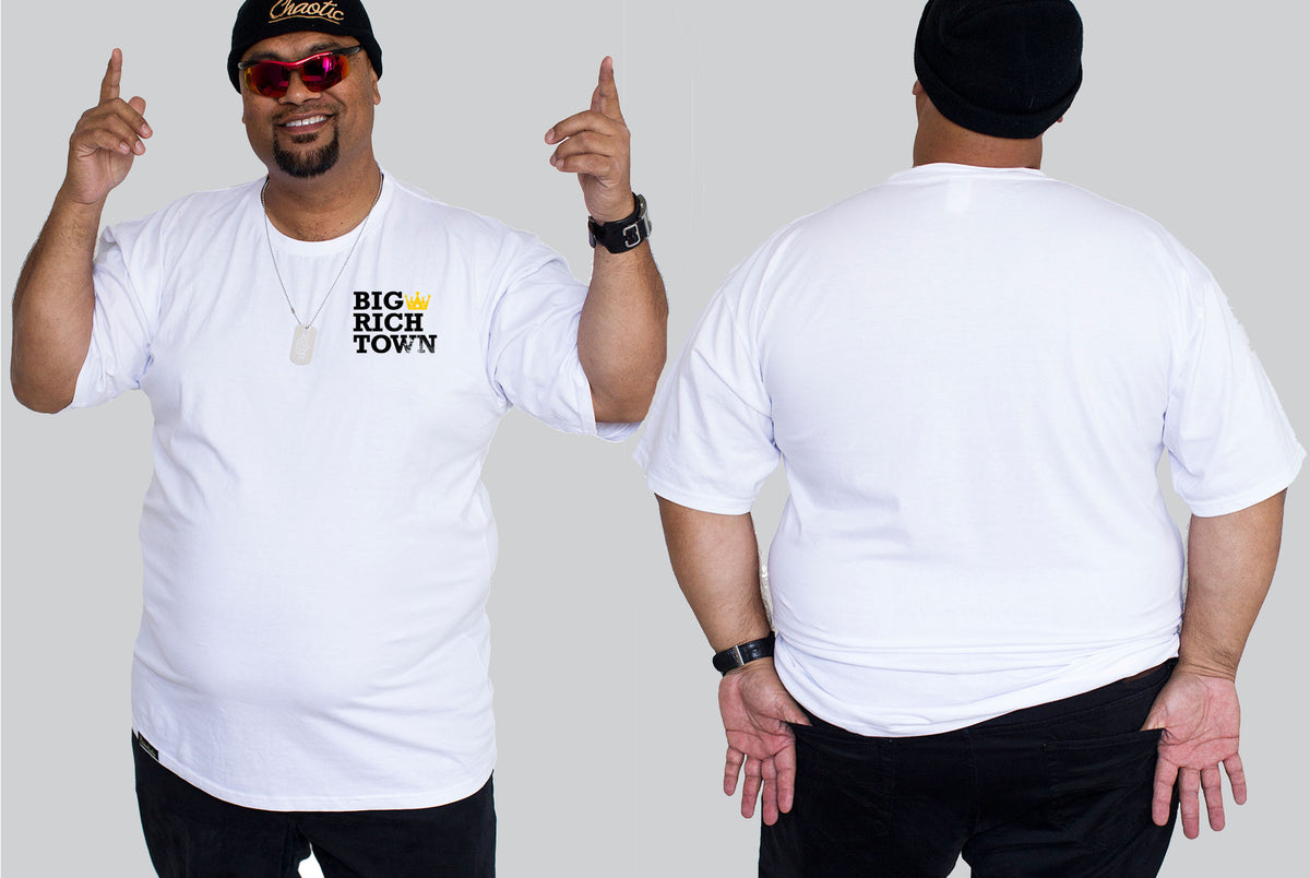 Big Rich Town - Chaotic King Size Tshirt 3XL to 7XL -  - Chaotic Clothing Streetwear Sydney Australia Street Style Plus Menswear
