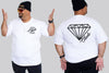 Glass Diamond Chaotic King Size Tshirt 3XL to 7XL -  - Chaotic Clothing Streetwear Sydney Australia Street Style Plus Menswear