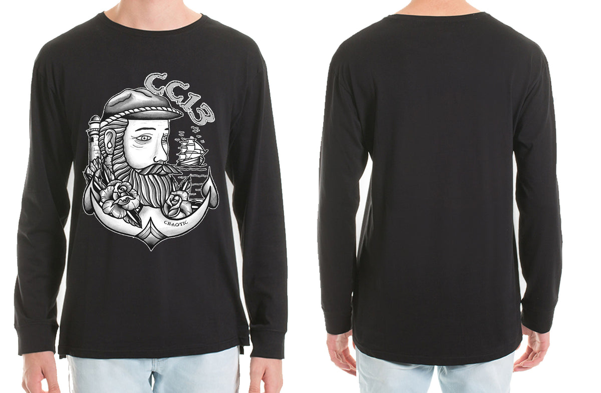 The Captain Long Sleeve Tshirt - Chaotic Clothing