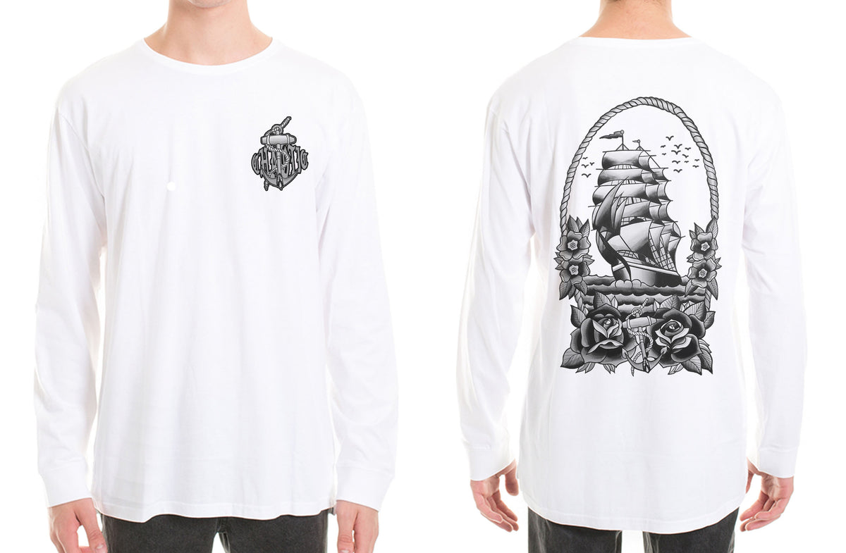 Tall Ship Long Sleeve Tshirt