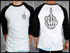 Skeleton Finger Raglan - Chaotic Clothing
