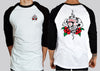 Tattoo Rose Gamblr Raglan 3/4 Tshirt