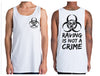Raving is Not a Crime Singlet | Chaotic Clothing Streetwear Tshirts - Shirts - Chaotic Clothing Streetwear Sydney Australia Street Style Plus Menswear