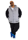 King Size Basics - Hooded Varsity Letterman Jacket - Chaotic Clothing