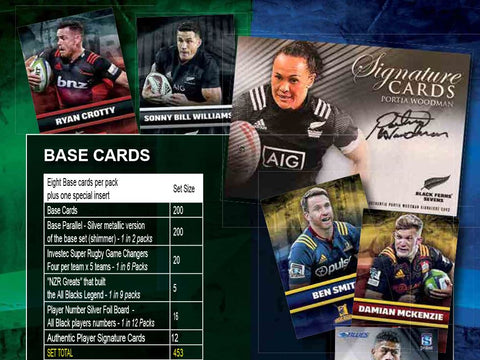 2018 TapnPlay New Zealand Rugby Trading Card Collection Structure