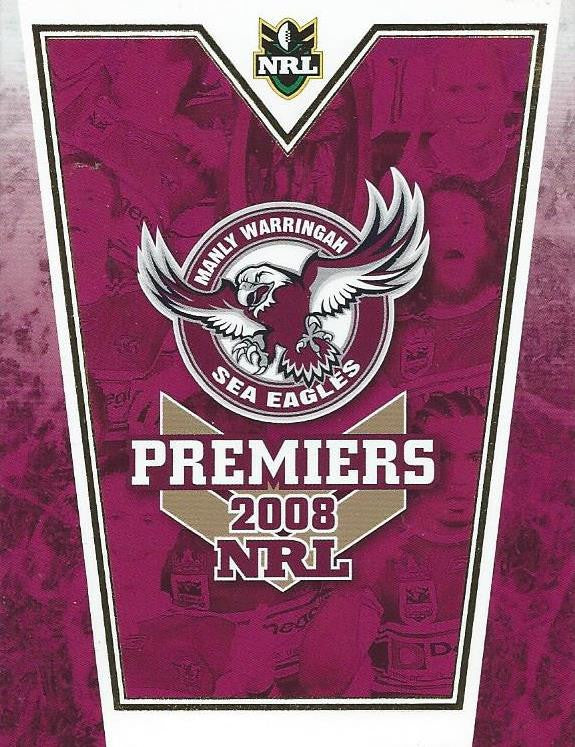 2008 Select, Manly Sea Eagles, NRL Premiers Card Set