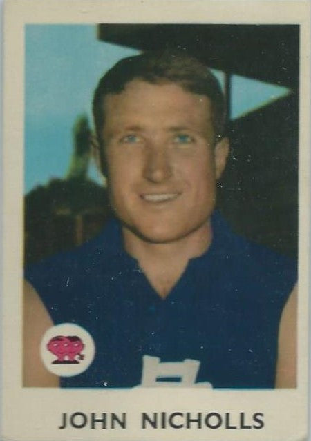 1965 Scanlens VFL, John Nicholls, Carlton Blues