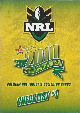 2010 Select NRL Champions Set of 195 Rugby League cards