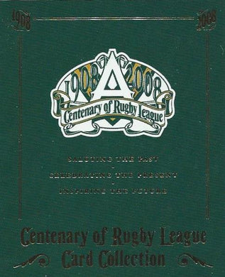2008 Select NRL Centenary Set of 199 Rugby League cards