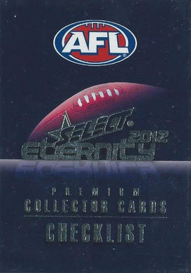 2012 Select AFL Eternity Set of 220 Football cards