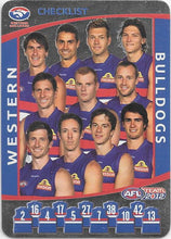 2012 Teamcoach AFL Checklist cards - Pick Your Card