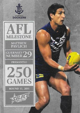 Matthew Pavlich. 250 Game Milestone, 2012 Select AFL Champions