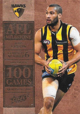Josh Gibson. 100 Game Milestone, 2012 Select AFL Champions