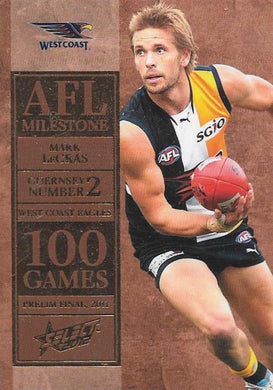 Mark LeCras. 100 Game Milestone, 2012 Select AFL Champions