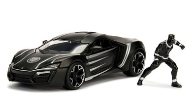Black Panther & Lykan Hypersport, Marvel Hollywood Rides, 1:24 Diecast Vehicle