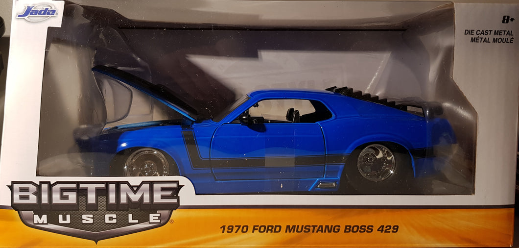 1970 Ford Mustang Boss 429, Big Time Muscle, 1:24 Diecast Vehicle
