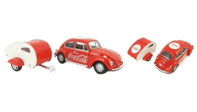 1967 Coca Cola VW Beetle with Teardrop Van, 1:43 Diecast Vehicle