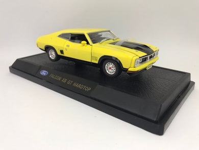XB GT Ford Falcon Hardtop 2 Door - Yellow Blaze, 1:32 Diecast Vehicle