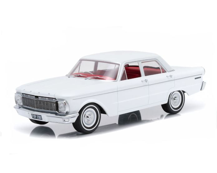 1965 XP Ford Falcon Sedan- White Sealed Body, 1:18 Diecast Vehicle