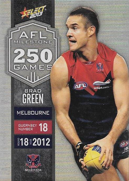 Brad Green, 250 Game Milestone, 2013 Select AFL Champions