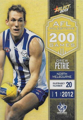 Drew Petrie, 200 Game Milestone, 2013 Select AFL Champions