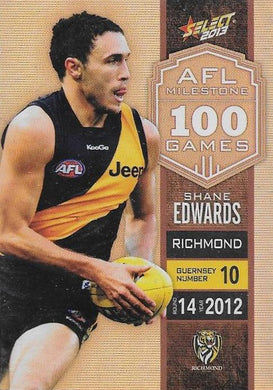 Shane Edwards, 100 Game Milestone, 2013 Select AFL Champions
