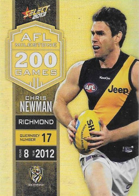 Chris Newman, 200 Game Milestone, 2013 Select AFL Champions