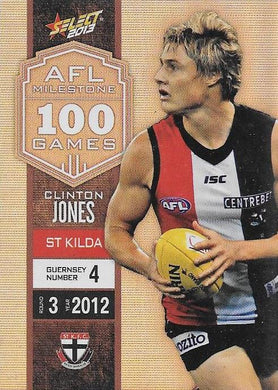 Clinton Jones, 100 Game Milestone, 2013 Select AFL Champions